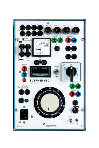 SVERKER 650 -  Reläprovningsinstrument